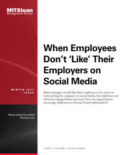 When Employees Don't 'Like' Their Employers on Social Media