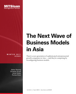 The Next Wave of Business Models in Asia