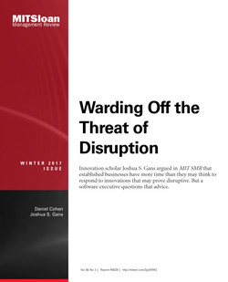 Warding Off the Threat of Disruption