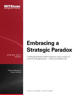 Embracing a Strategic Paradox
