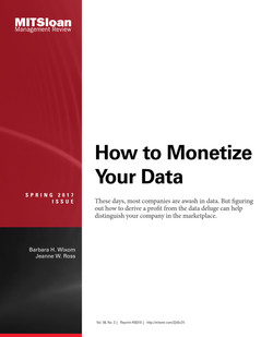 How to Monetize Your Data