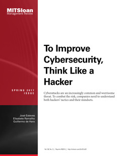 To Improve Cybersecurity, Think Like a Hacker