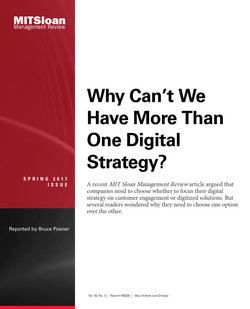 Why Can't We Have More Than One Digital Strategy?