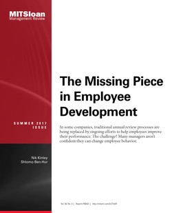 The Missing Piece in Performance Development