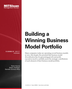 Building a Winning Business Model Portfolio