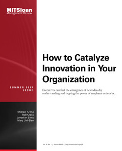 How to Catalyze Innovation in Your Organization