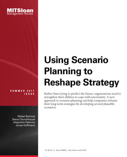Using Scenario Planning to Reshape Strategy