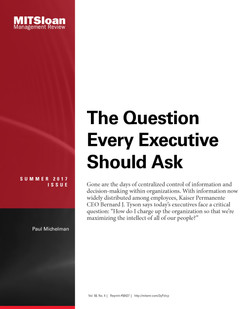The Question Every Executive Should Ask