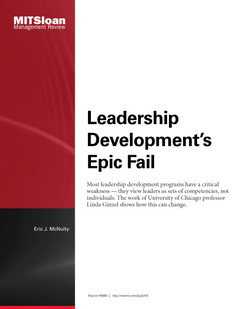 Leadership Development's Epic Fail