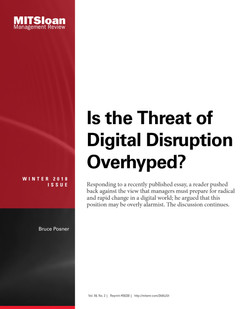 Is the Threat of Digital Disruption Overhyped?