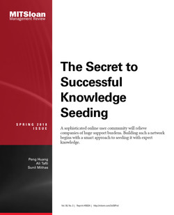 The Secret to Successful Knowledge Seeding