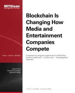 Blockchain Is Changing How Media and Entertainment Companies Compete