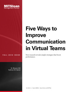 Five Ways to Improve Communication in Virtual Teams