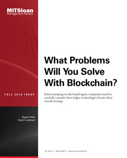 What Problems Will You Solve with Blockchain?