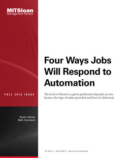 Four Ways Jobs Will Respond to Automation