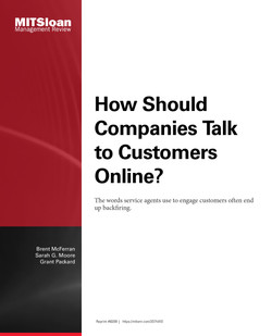 How Should Companies Talk to Customers Online?