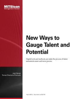 New Ways to Gauge Talent and Potential
