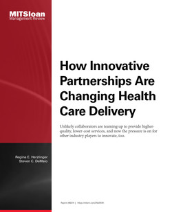 How Innovative Partnerships Are Changing Health Care Delivery