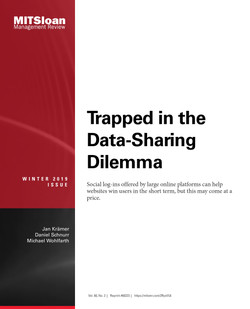 Trapped in the Data-Sharing Dilemma