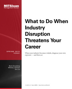 What to Do When Industry Disruption Threatens Your Career