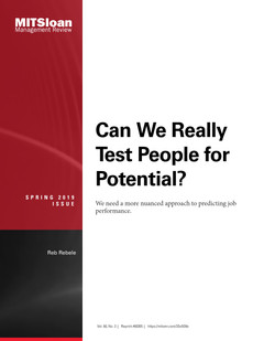 Can We Really Test People for Potential?