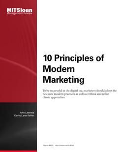 10 Principles of Modern Marketing