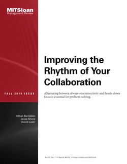 Improving the Rhythm of Your Collaboration
