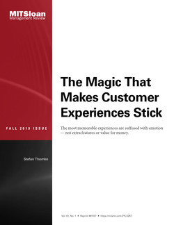 The Magic That Makes Customer Experiences Stick