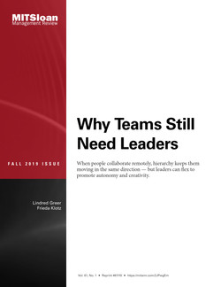 Why Teams Still Need Leaders
