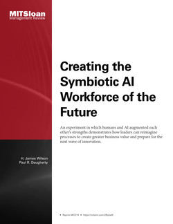 Creating the Symbiotic AI Workforce of the Future