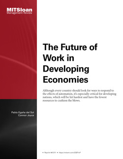 The Future of Work in Developing Economies