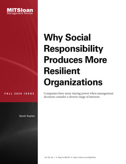 Why Social Responsibility Produces More Resilient Organizations