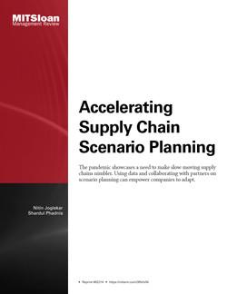 Accelerating Supply Chain Scenario Planning