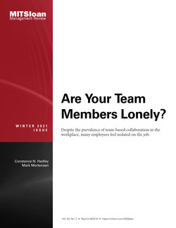 Are Your Team Members Lonely?