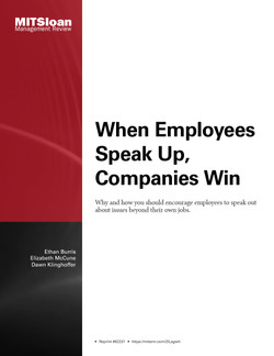 When Employees Speak Up, Companies Win