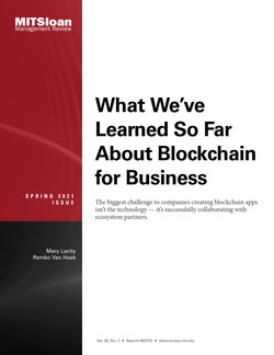 What We've Learned So Far About Blockchain for Business
