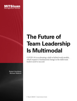 The Future of Team Leadership Is Multimodal