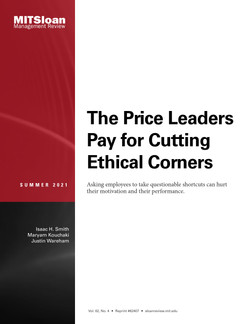 The Price Leaders Pay for Cutting Ethical Corners