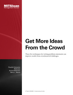Get More Ideas From the Crowd