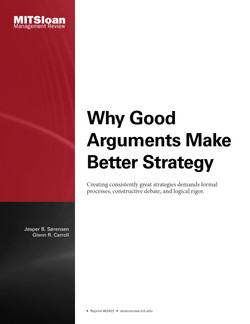 Why Good Arguments Make Better Strategy