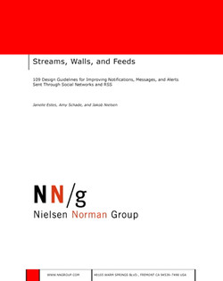 Streams, Walls, and Feeds: 109 Design Guidelines for Improving Notifications, Messages, and Alerts Sent Through Social Networks and RSS