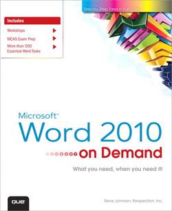 Microsoft® Word® 2010 On Demand