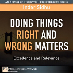 Doing Things Right and Wrong What Matters: Excellence and Relevance