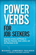 book cover: Power Verbs for Job Seekers