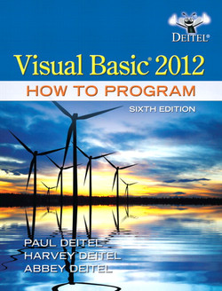 Visual Basic® 2012 How to Program, Sixth Edition