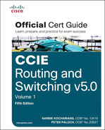 Cover of CCIE Routing and Switching v5.0 Official Cert Guide, Volume 1, Fifth Edition