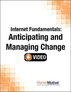 Internet Fundamentals: Anticipating and Managing Change (Streaming Video)