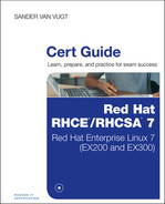 Cover of Red Hat RHCSA/RHCE 7 Cert Guide: Red Hat Enterprise Linux 7 (EX200 and EX300)