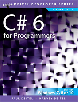 C# 6 for Programmers, Sixth Edition