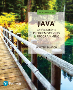 Java: An Introduction to Problem Solving and Programming, 8th Edition
